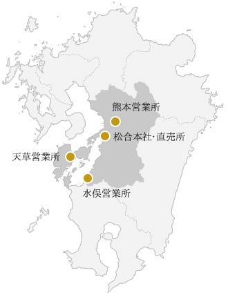 蔵・営業所MAP